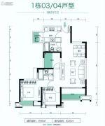 朗宁郡3室2厅2卫95平方米户型图