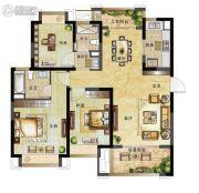 绿地国际博览城3室2厅2卫110平方米户型图