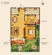 城建・锦绣城2室2厅1卫70--75平方米户型图