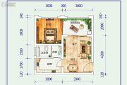 天岛湖2室2厅1卫35平方米户型图