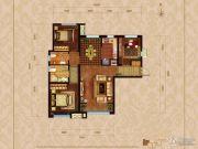 华润橡树湾3室2厅2卫110平方米户型图