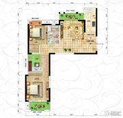 恒信・中央公园2室2厅1卫98平方米户型图