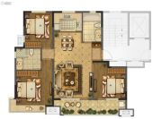 海信珠山小镇3室2厅2卫120平方米户型图