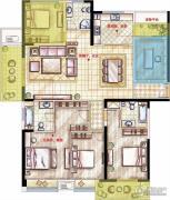 星河国际4室2厅2卫137平方米户型图
