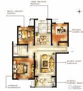 华润国际社区3室2厅1卫114平方米户型图