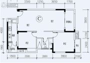 福星城2室2厅1卫90平方米户型图