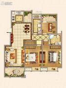 仁和景苑3室2厅2卫120平方米户型图