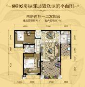 安康・金海湾2室2厅1卫91平方米户型图