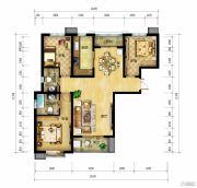 北郡帕提欧3室2厅2卫126--130平方米户型图