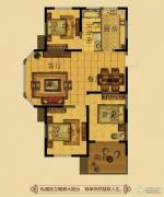 金鼎名府3室2厅1卫111平方米户型图