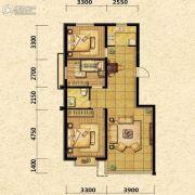 瑞士风情小镇三期铂邸3室2厅1卫107平方米户型图