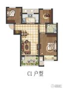 康桥朗城3室2厅1卫87--89平方米户型图