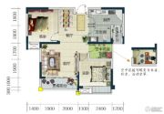 春华星运城2室2厅1卫85平方米户型图