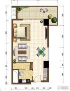 沙巴岛1室1厅1卫62平方米户型图