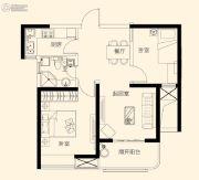 星颐广场2室2厅1卫75平方米户型图