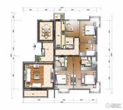 天资�Z庭4室2厅2卫187平方米户型图