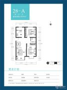 天朗美域2室2厅1卫96平方米户型图