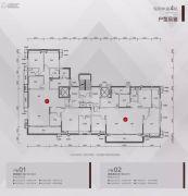 保利大都会4室2厅2卫190平方米户型图
