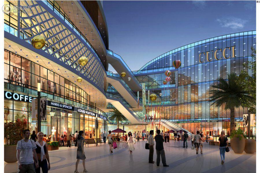 海悦银河城-商业内街透视图