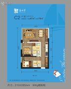 金融街・海世界2室2厅2卫79--87平方米户型图