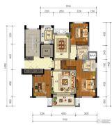 东泰・春江名园3室2厅2卫133平方米户型图