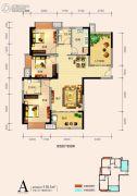 天鸿中央大院4室2厅2卫110平方米户型图