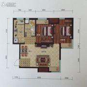 金地艺境2室1厅1卫76平方米户型图