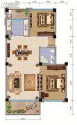 大理山水间(三期)2室2厅1卫86平方米户型图