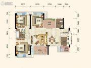 保利花半里3室2厅2卫0平方米户型图