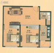 青年城邦2室1厅1卫0平方米户型图
