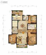 燕港美域3室2厅2卫138平方米户型图