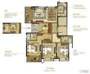 复地江城国际4室2厅2卫139平方米户型图
