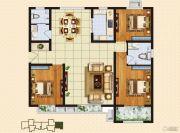 中购御景城3室2厅2卫135平方米户型图