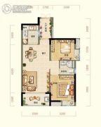 阳光城丽景湾2室2厅1卫75平方米户型图