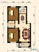 古御壹号2室2厅1卫85平方米户型图
