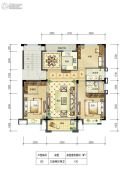 邻悦雅苑3室2厅2卫120平方米户型图