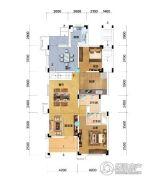 保利锦里3室2厅2卫98平方米户型图