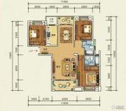 宜化・巴黎香颂3室2厅2卫125平方米户型图