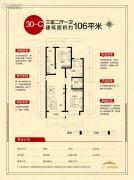 天朗美域3室2厅1卫106平方米户型图