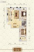 上官锦城2室2厅1卫82平方米户型图