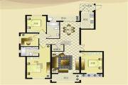宏博锦园 高层4室2厅2卫154平方米户型图