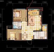 亲亲里2室2厅1卫69--73平方米户型图