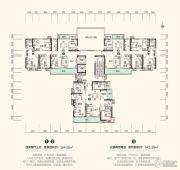 中建・江湾壹号4室2厅3卫143--164平方米户型图