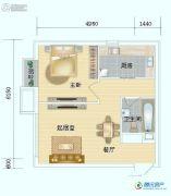 海岸国际1室1厅1卫52平方米户型图