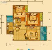 金鸿城三期归谷2室2厅1卫84平方米户型图
