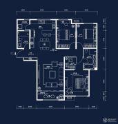 中建・国熙台3室2厅2卫143平方米户型图