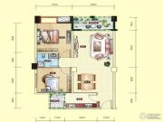 民福旌城天际2室2厅1卫81平方米户型图