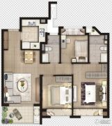 象屿虹桥悦府3室2厅2卫0平方米户型图