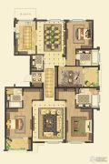 金鼎湾如院4室4厅4卫239平方米户型图
