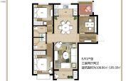 上海公馆旗舰版3室2厅2卫108--109平方米户型图